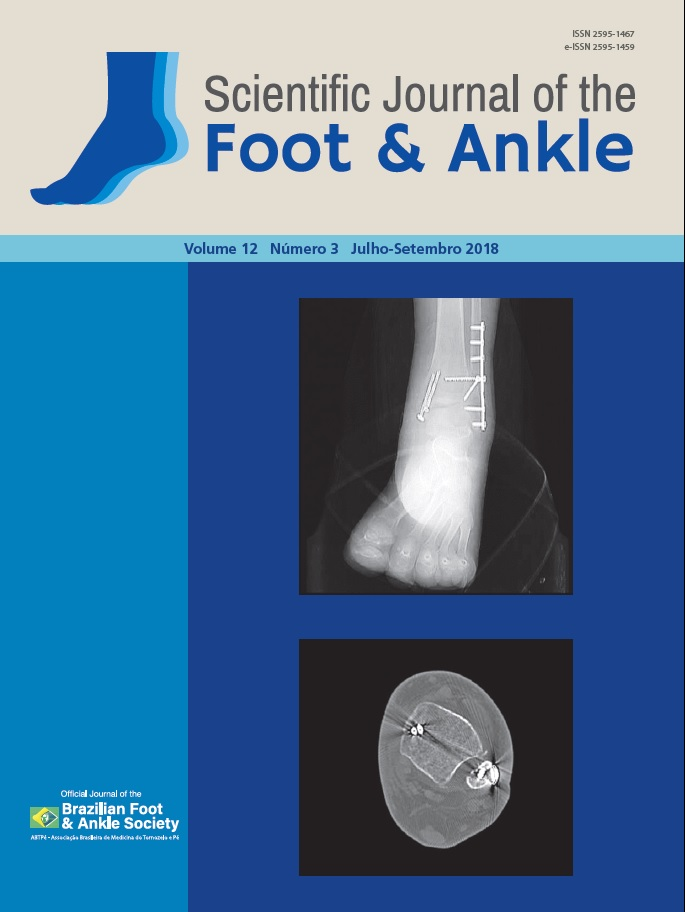 View Vol. 12 No. 3 (2018): Scientific Journal of the Foot and Ankle