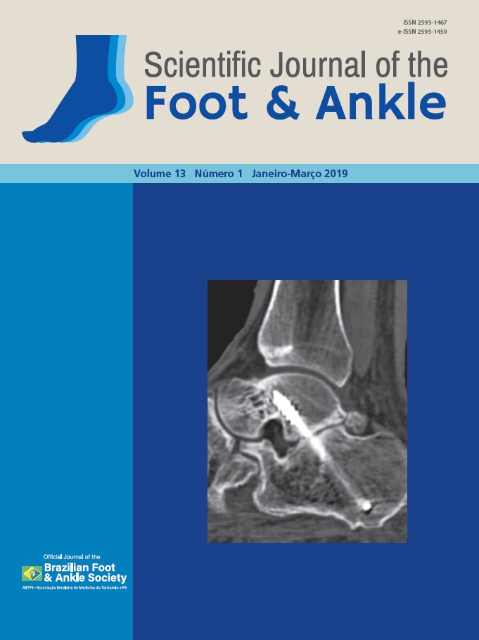 View Vol. 13 No. 1 (2019): Scientific Journal of the Foot and Ankle